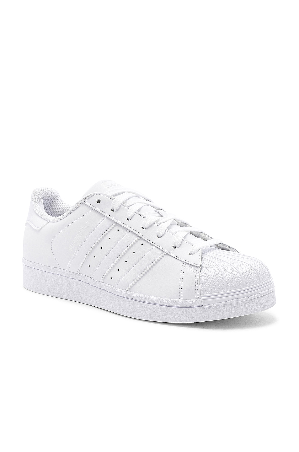 Image 2 of adidas Originals Superstar Foundation in White & White & White