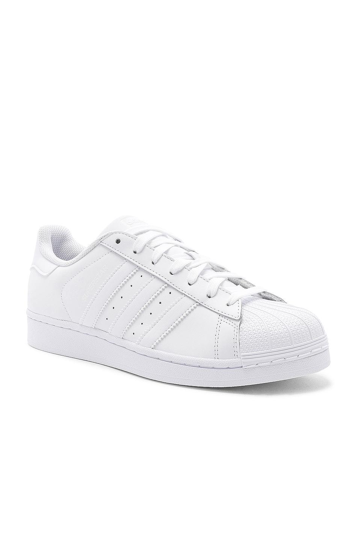 Image 2 of adidas Originals Superstar Foundation in White & White & White