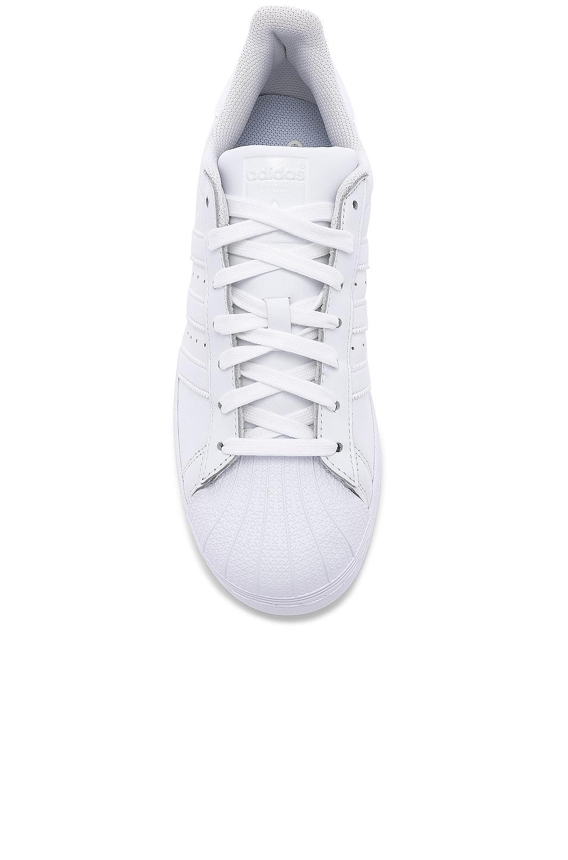 Image 4 of adidas Originals Superstar Foundation in White & White & White