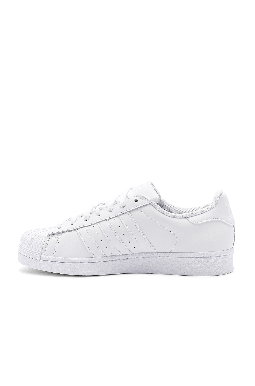 Image 5 of adidas Originals Superstar Foundation in White & White & White