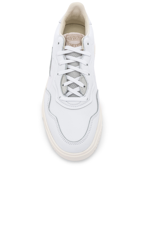 Image 4 of adidas Originals Super Court Premiere in FTW White & CRY White & C White