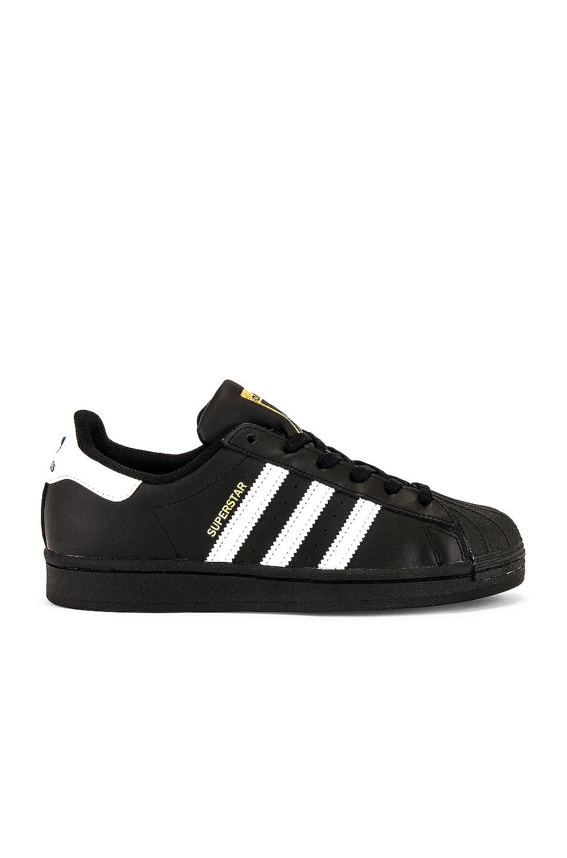 Image 1 of adidas Originals Superstar Foundation in Black & White & Black