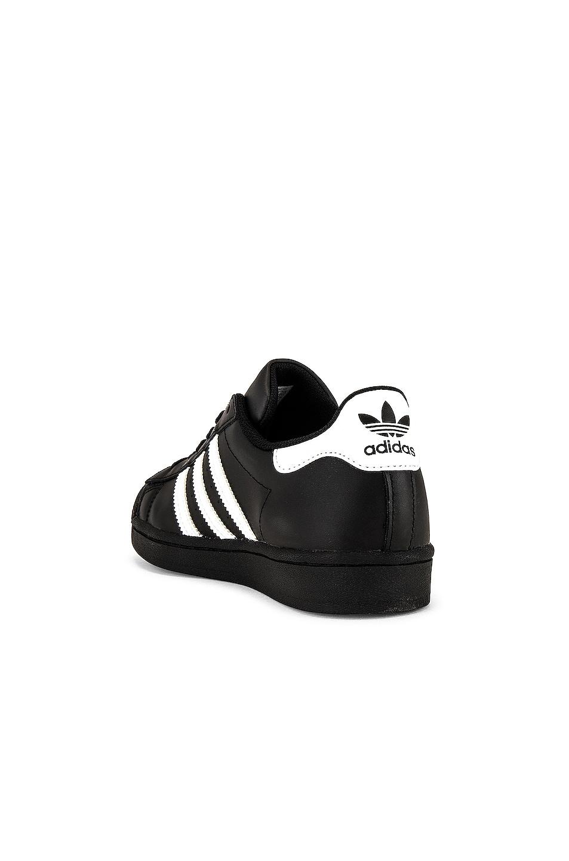 Image 3 of adidas Originals Superstar Foundation in Black & White & Black