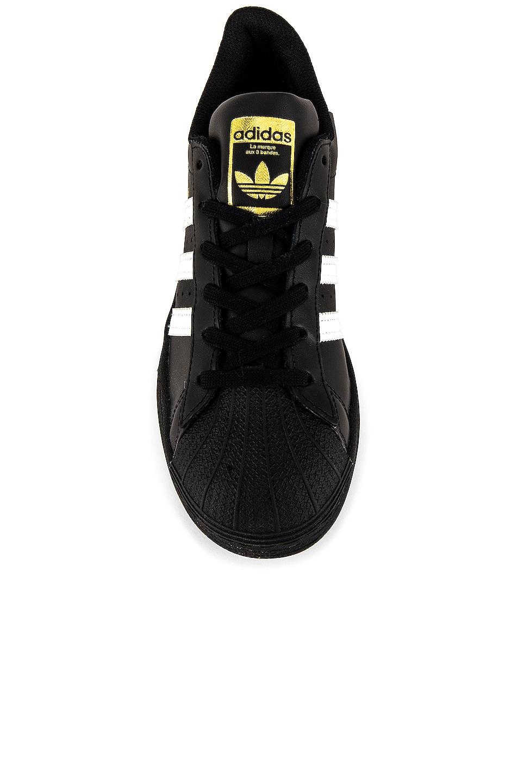 Image 5 of adidas Originals Superstar Foundation in Black & White & Black