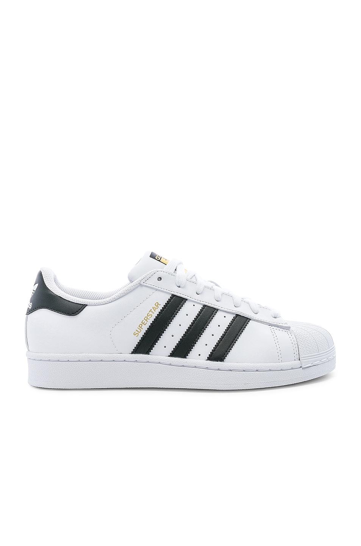 Image 1 of adidas Originals Superstar Foundation in White & Black & White
