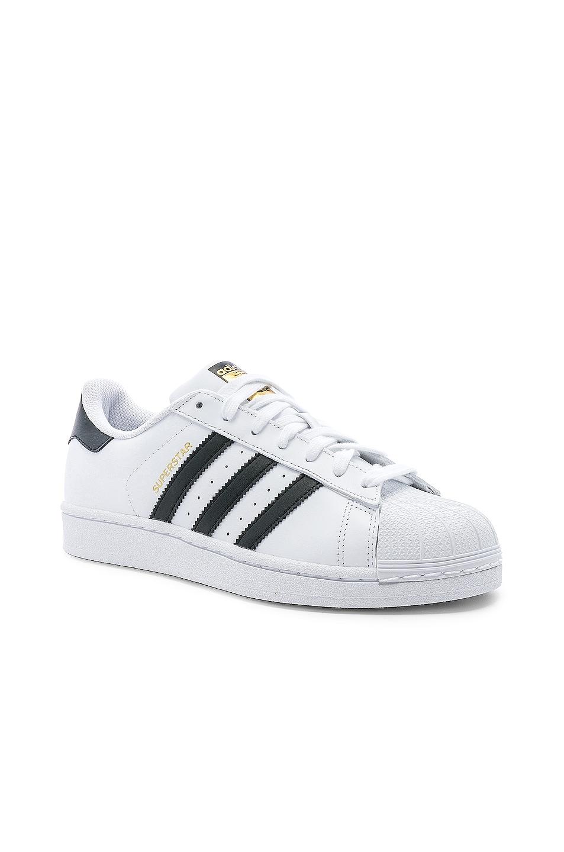 Image 2 of adidas Originals Superstar Foundation in White & Black & White