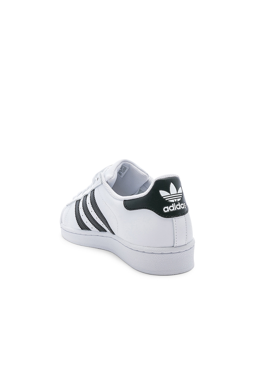 Image 3 of adidas Originals Superstar Foundation in White & Black & White