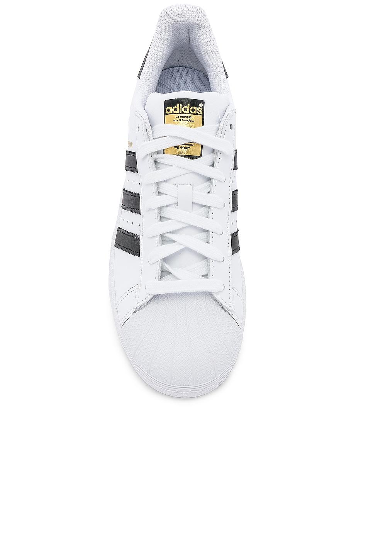 Image 4 of adidas Originals Superstar Foundation in White & Black & White