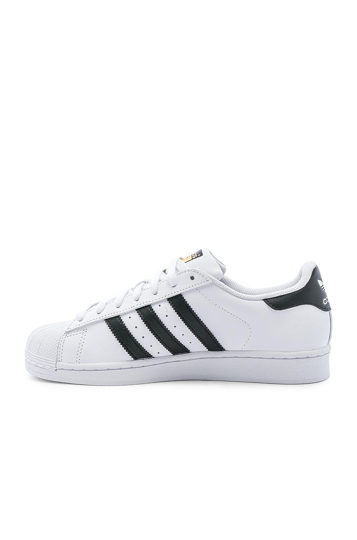 Image 5 of adidas Originals Superstar Foundation in White & Black & White