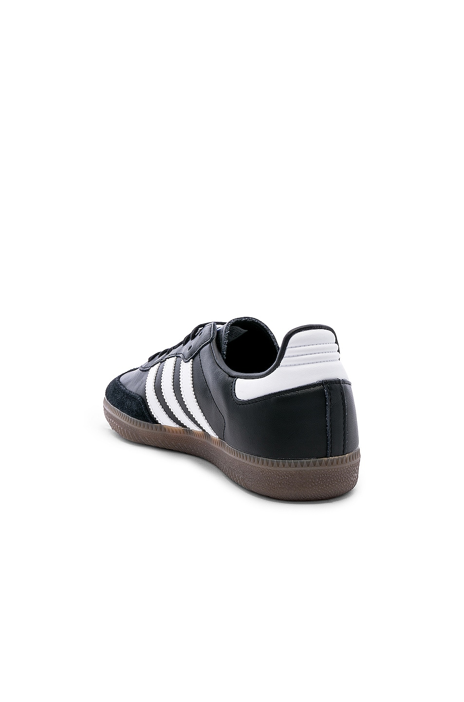 Image 3 of adidas Originals Samba OG in Black & White & Gum