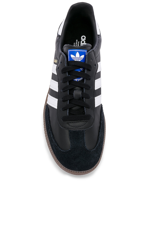 Image 4 of adidas Originals Samba OG in Black & White & Gum