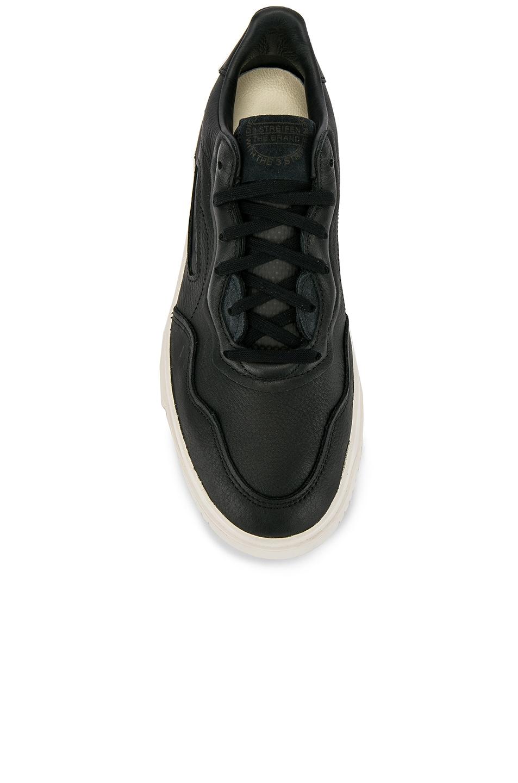 Image 4 of adidas Originals Super Court Premiere in C Black & C White & CLO White