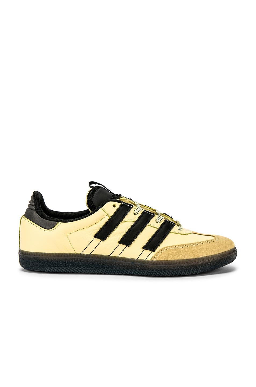Image 2 of adidas Originals Samba OG MS in Easy Yellow & C Black & FTW White