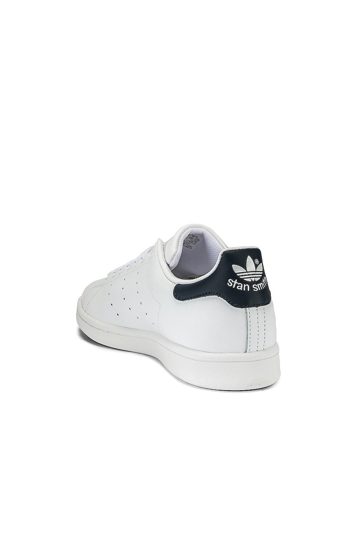 Image 3 of adidas Originals Stan Smith in White & Dark Blue