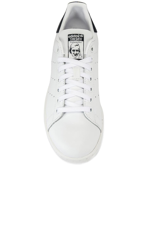 Image 4 of adidas Originals Stan Smith in White & Dark Blue