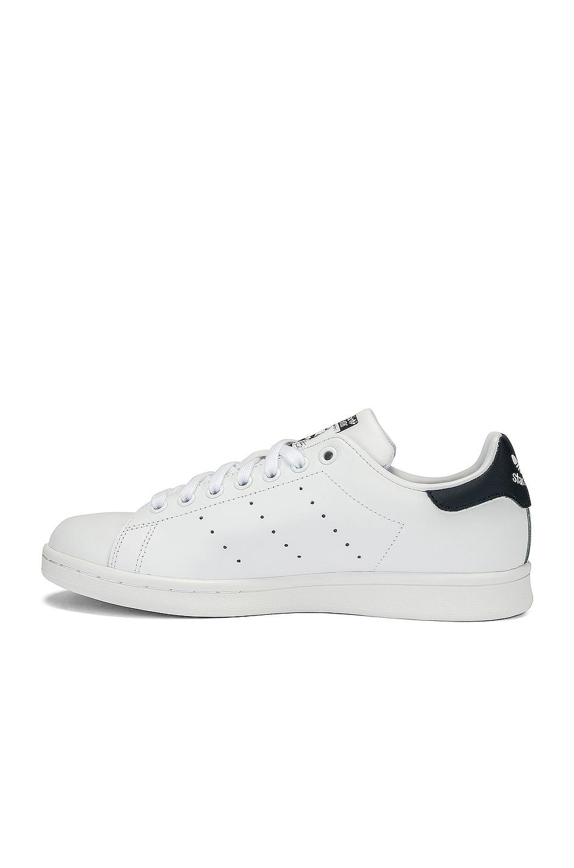 Image 5 of adidas Originals Stan Smith in White & Dark Blue