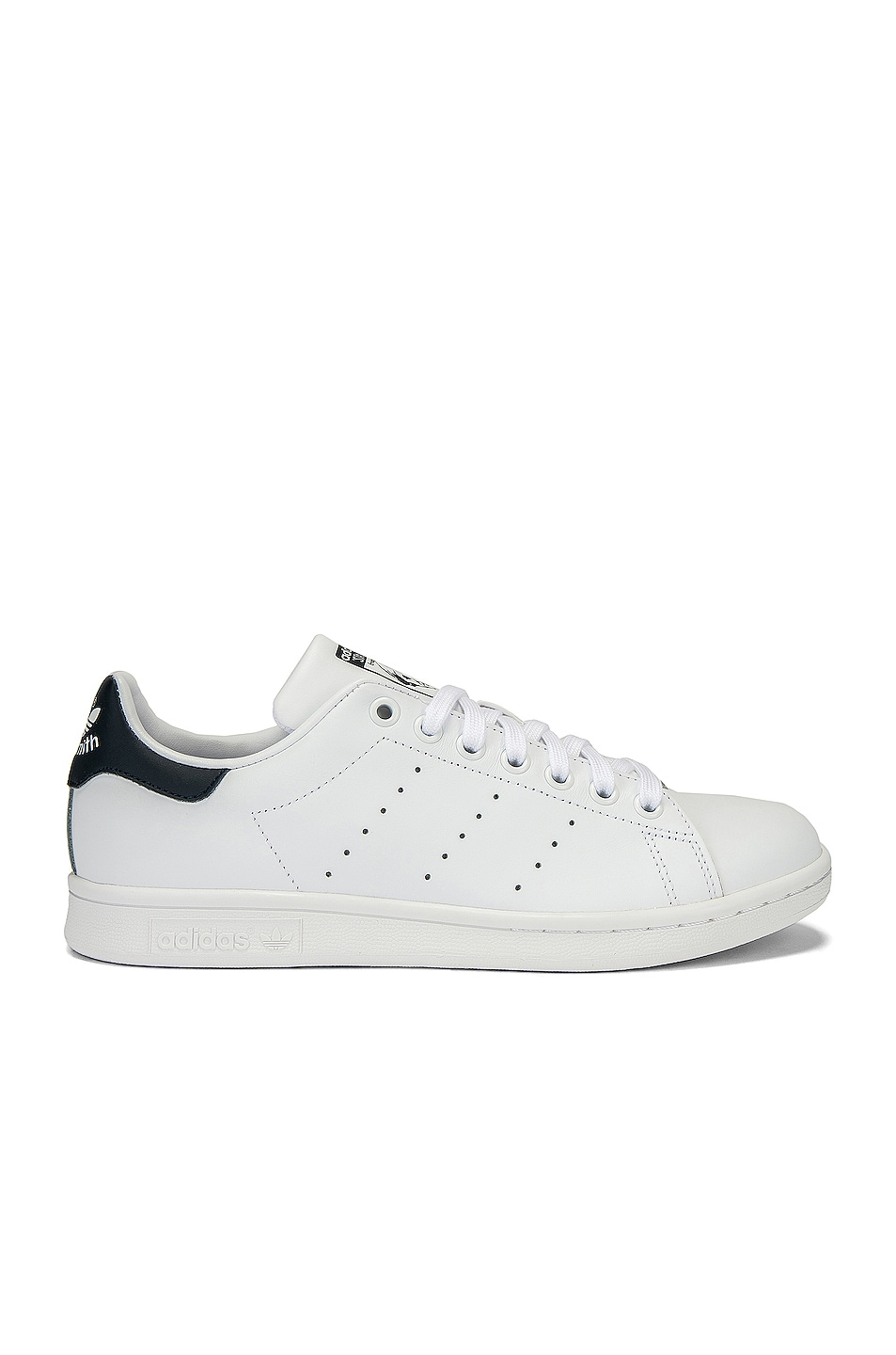 Image 1 of adidas Originals Stan Smith in White & Dark Blue