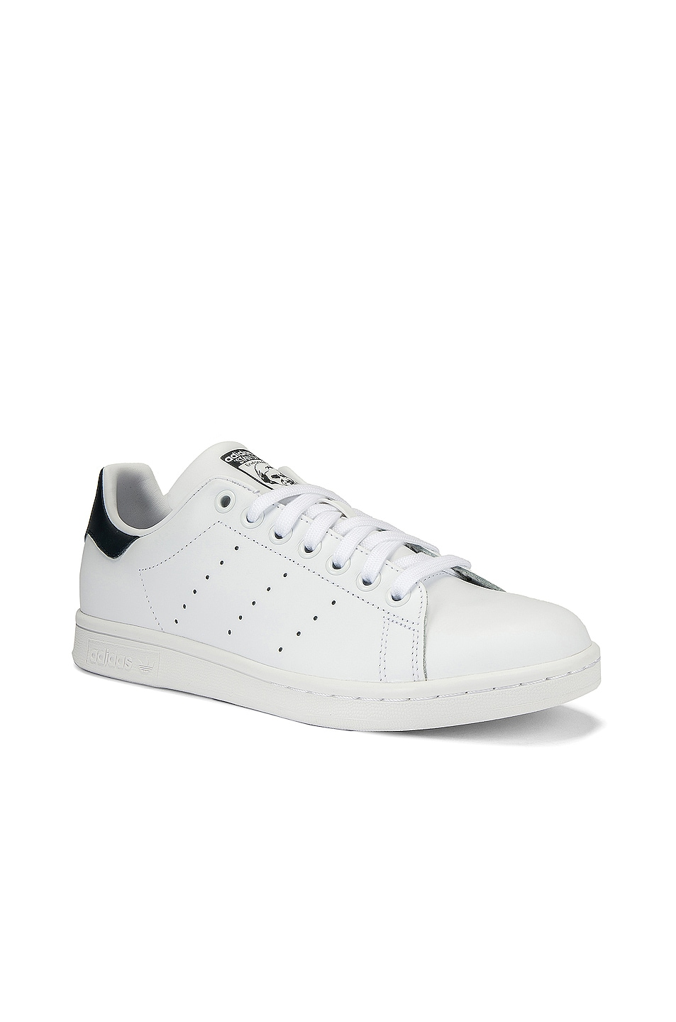 Image 2 of adidas Originals Stan Smith in White & Dark Blue