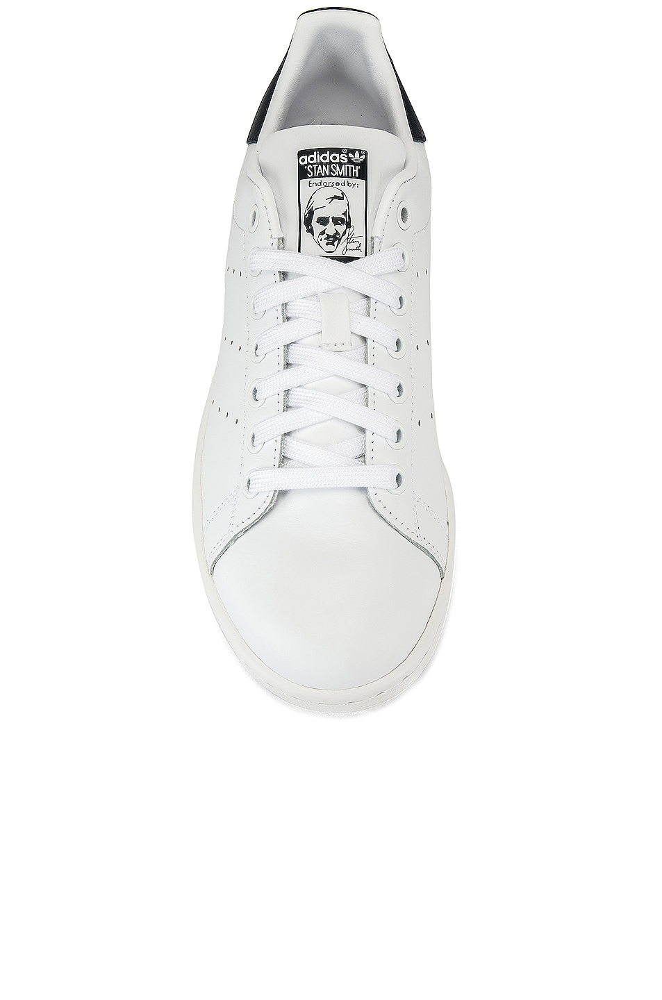 Image 4 of adidas Originals Stan Smith in White & Dark Blue