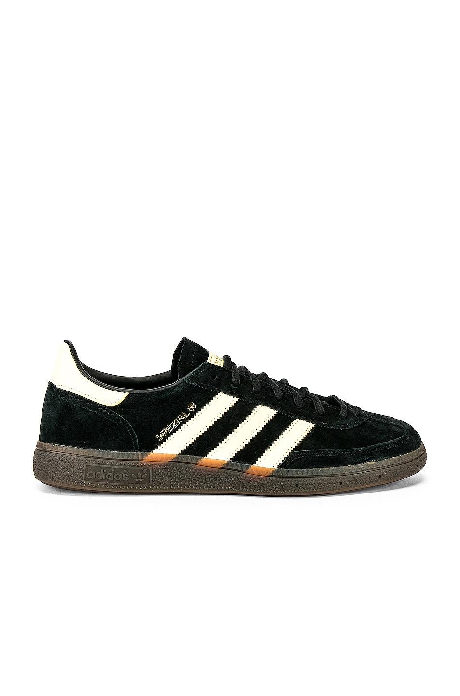 Image 1 of adidas Originals Handball SPZL in C Black & EAS Yellow & Gum5