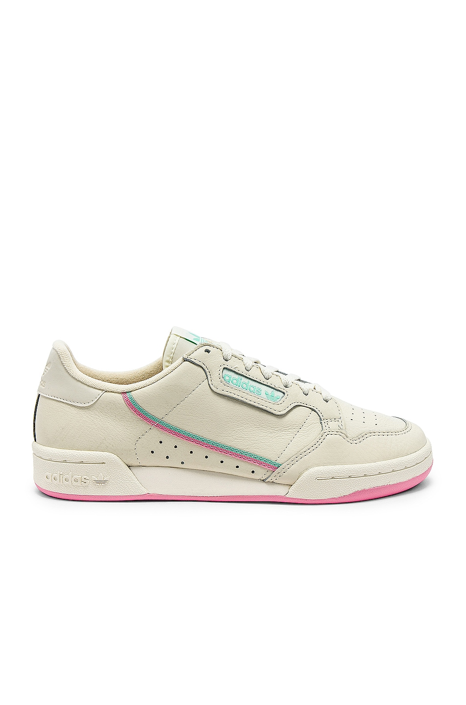 Image 1 of adidas Originals Continental 80 in Off White & Pink