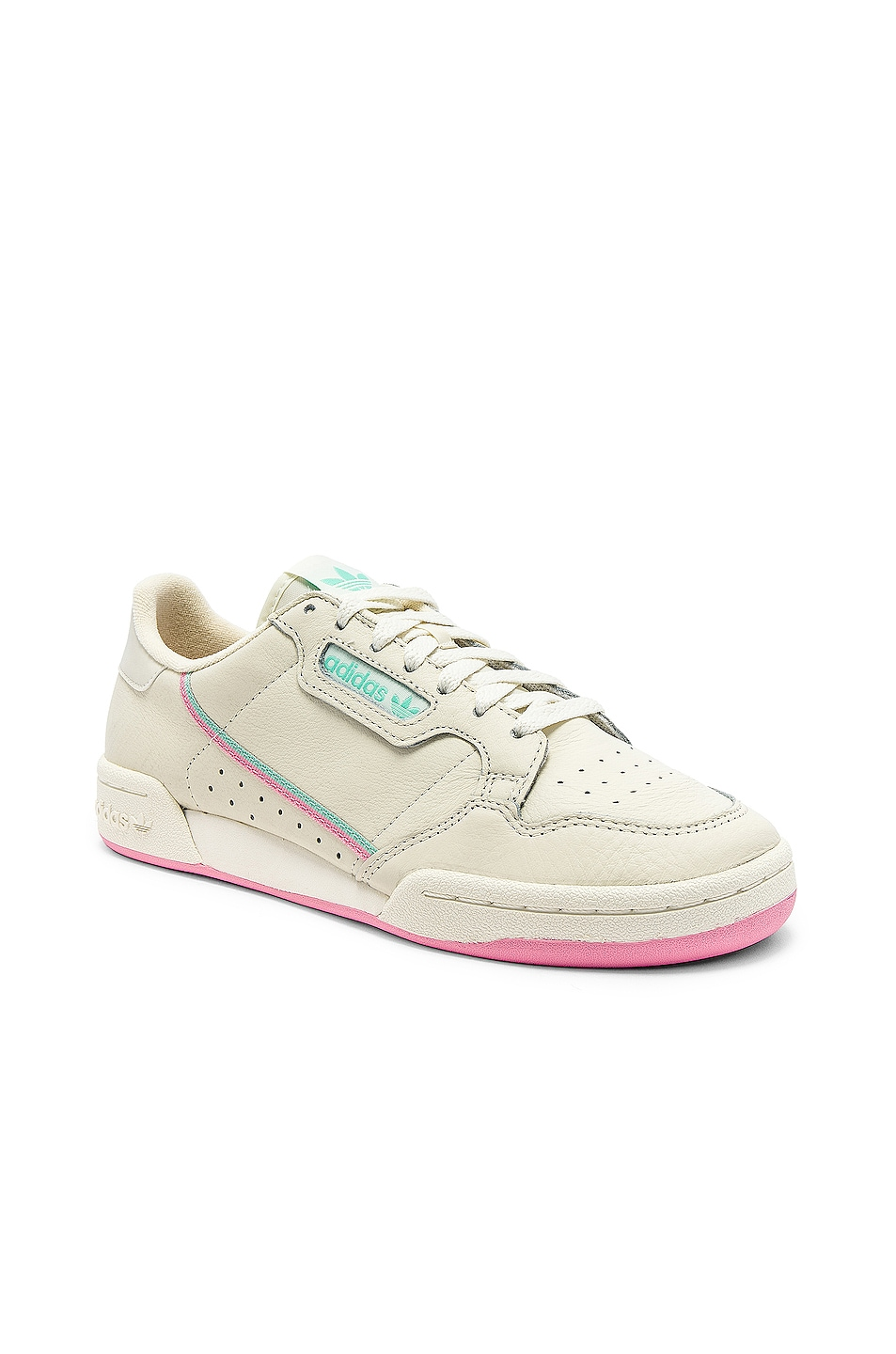 Image 2 of adidas Originals Continental 80 in Off White & Pink