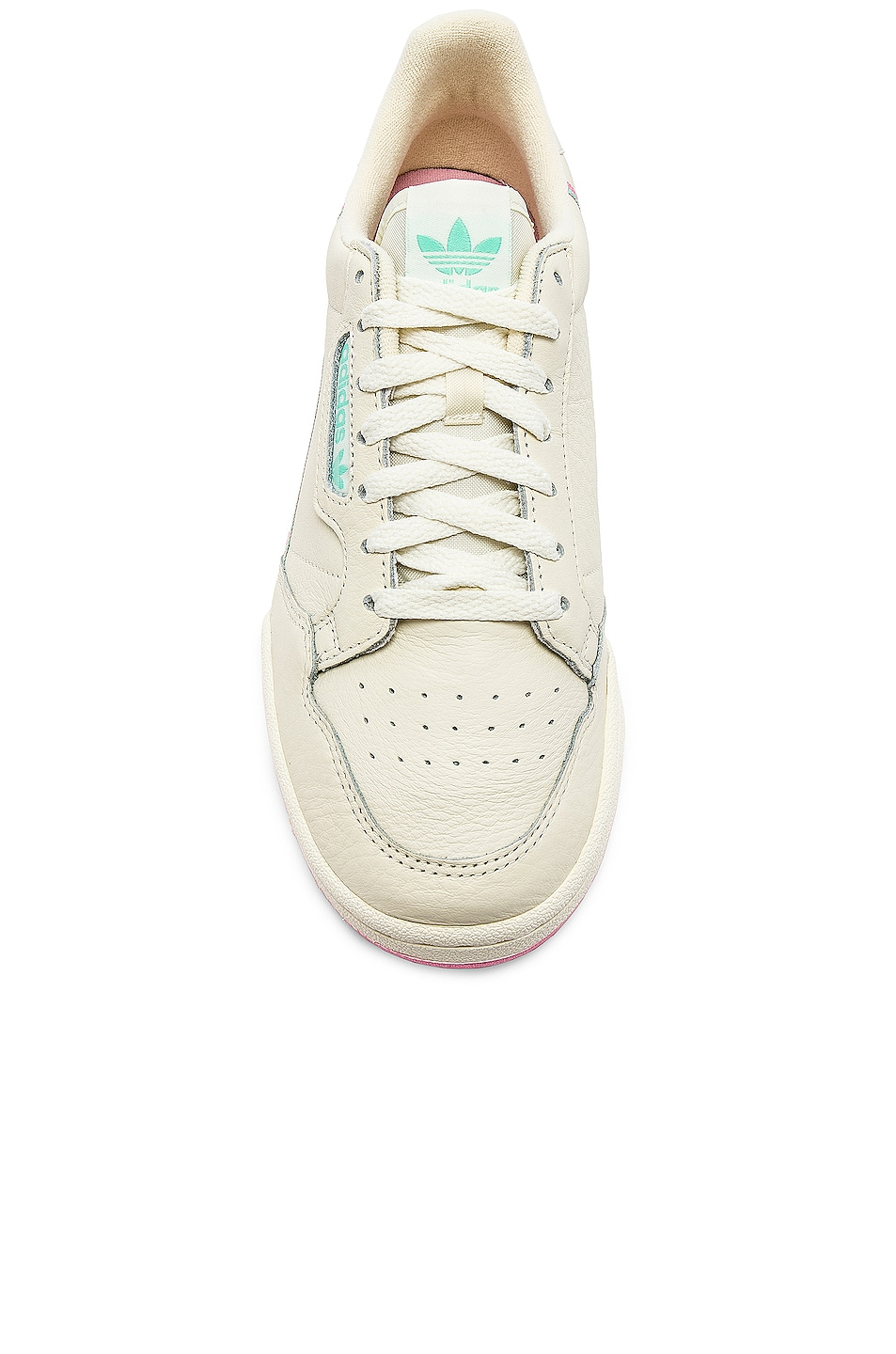 Image 4 of adidas Originals Continental 80 in Off White & Pink
