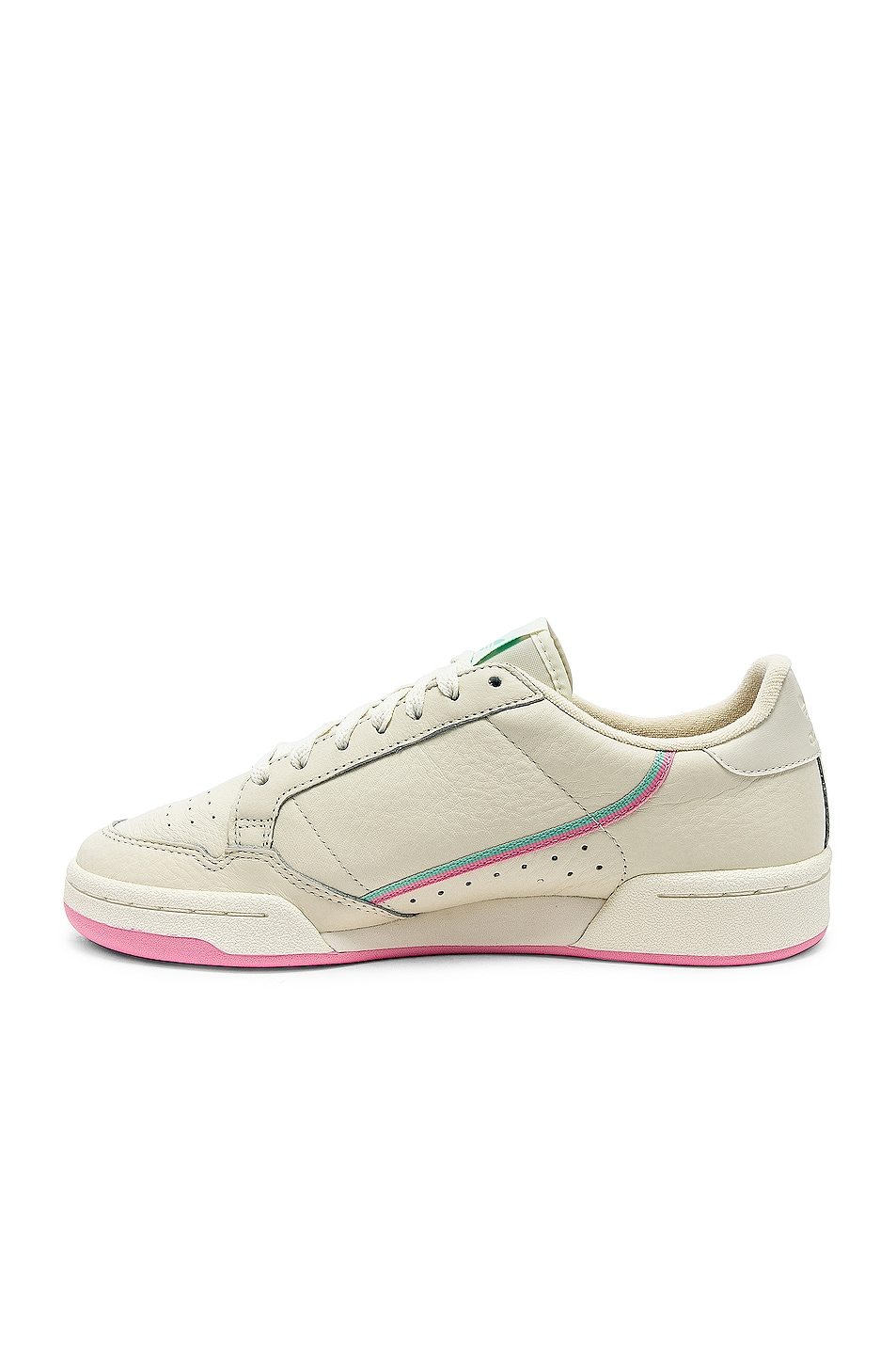 Image 5 of adidas Originals Continental 80 in Off White & Pink