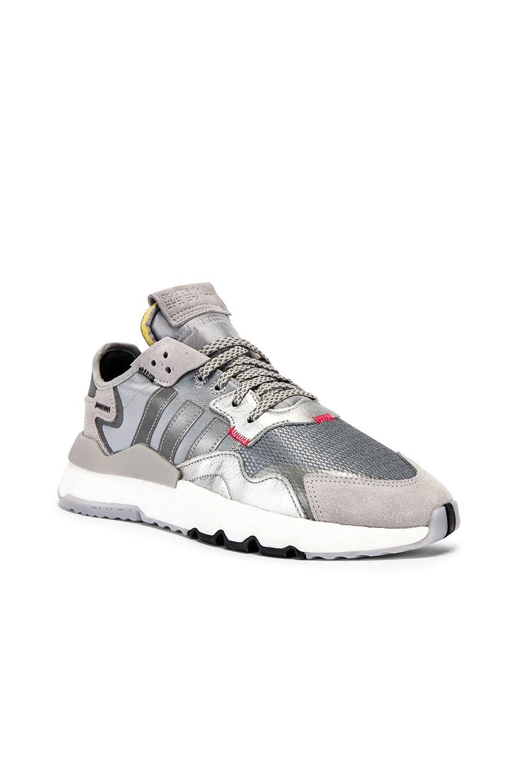 Image 1 of adidas Originals Nite Jogger in Silver Metallic & Light Grey & Black