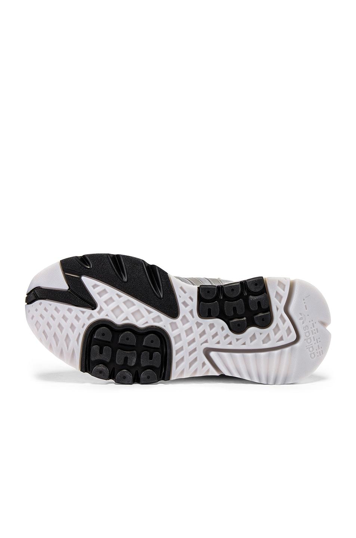Image 6 of adidas Originals Nite Jogger in Silver Metallic & Light Grey & Black
