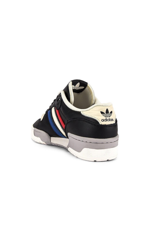 Image 3 of adidas Originals Rivalry Low in Core Black & Cloud White & Cream White