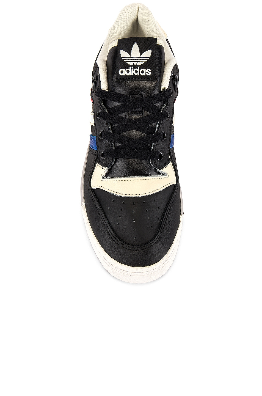 Image 4 of adidas Originals Rivalry Low in Core Black & Cloud White & Cream White