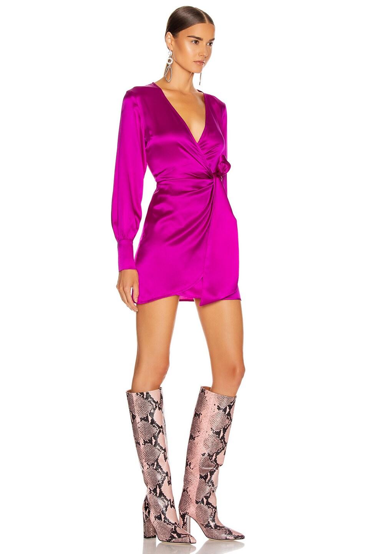 Image 2 of ANDAMANE Carly Mini Dress in Fuchsia