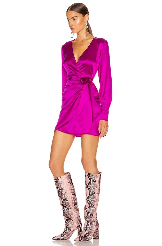 Image 3 of ANDAMANE Carly Mini Dress in Fuchsia