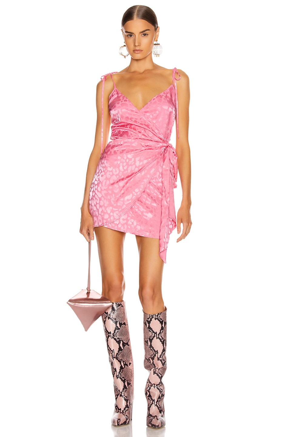Image 1 of ANDAMANE Dida Mini Dress in Leo Pink