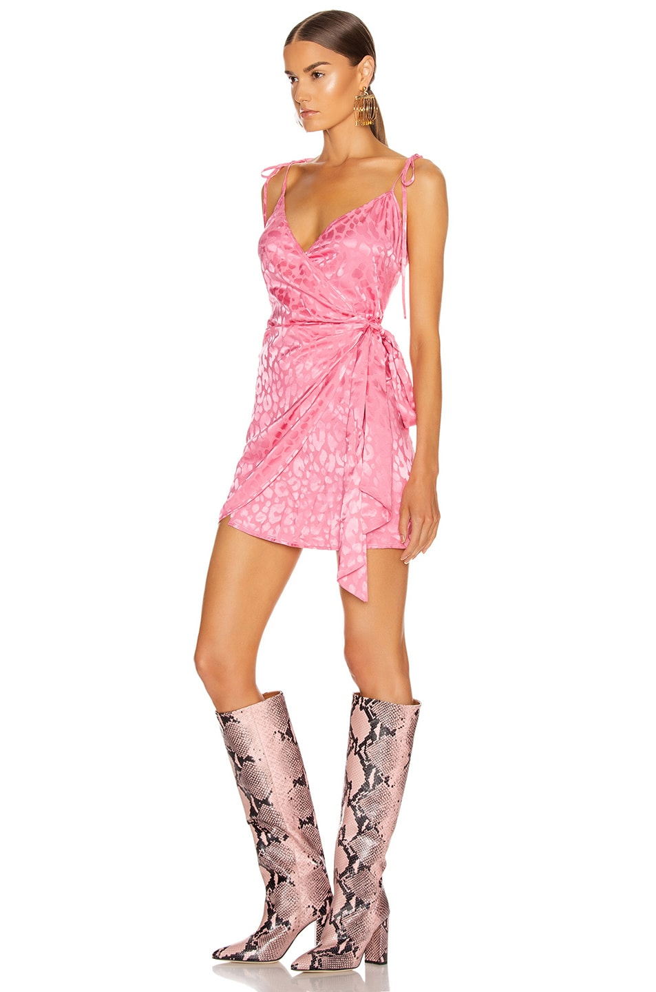 Image 3 of ANDAMANE Dida Mini Dress in Leo Pink