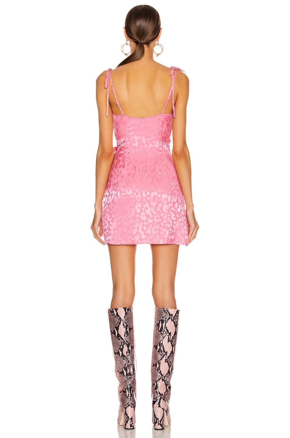 Image 4 of ANDAMANE Dida Mini Dress in Leo Pink