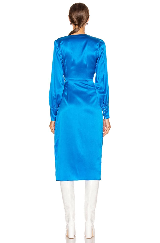 Image 4 of ANDAMANE Carly Midi Dress in Turquoise