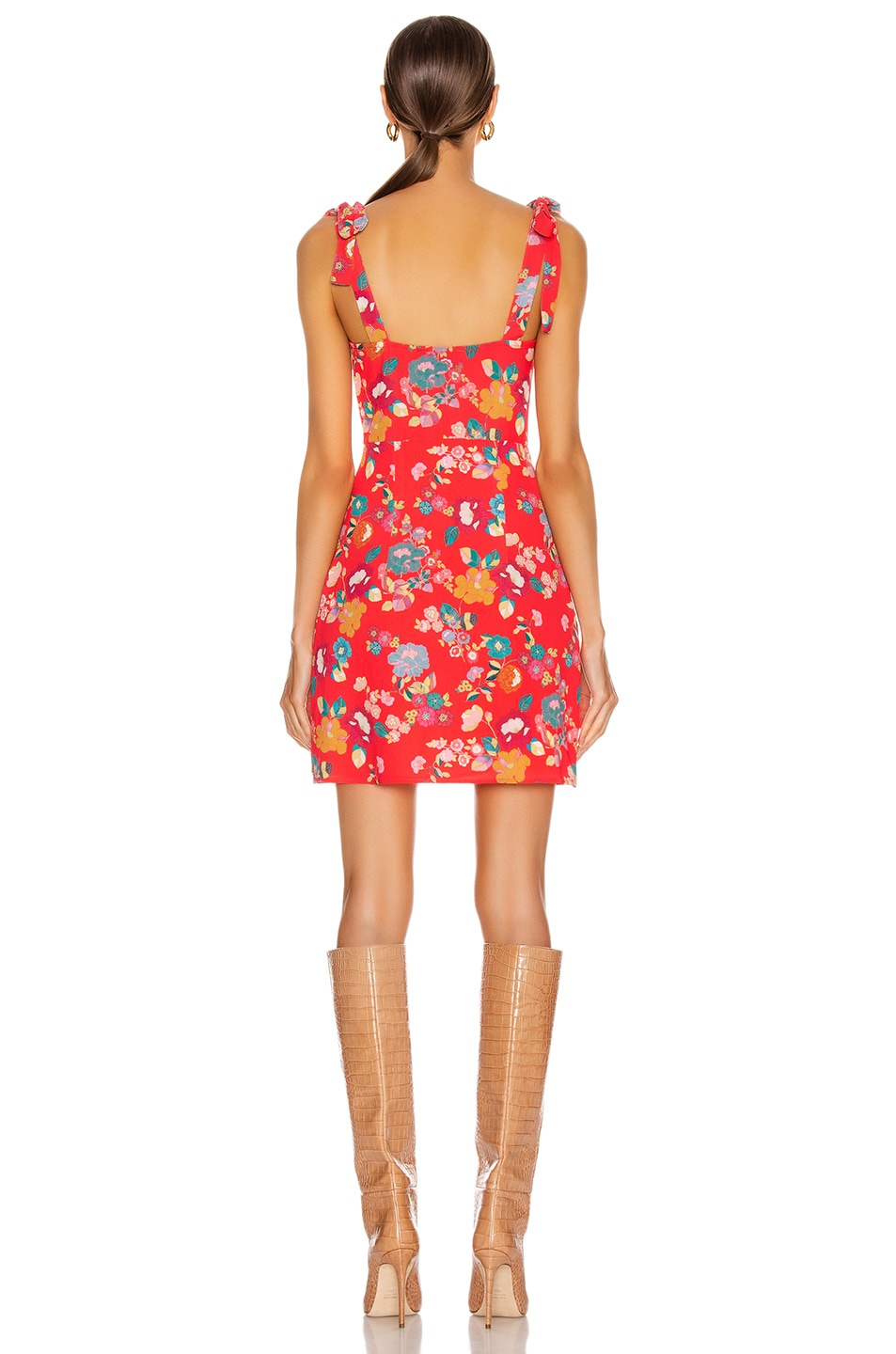 Image 3 of ANDAMANE Donna Mini Dress in Floral Red