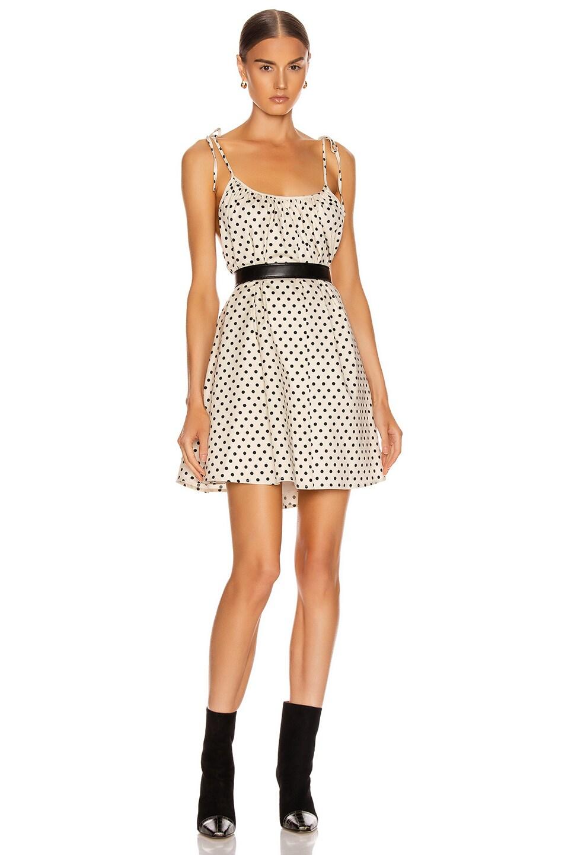 Image 1 of ANDAMANE Dalila Mini Dress in Ivory & Black Polka Dots