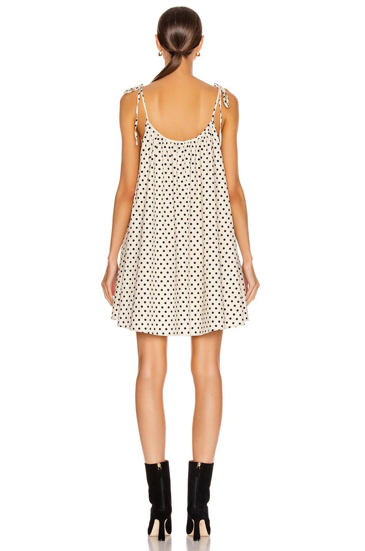 Image 3 of ANDAMANE Dalila Mini Dress in Ivory & Black Polka Dots