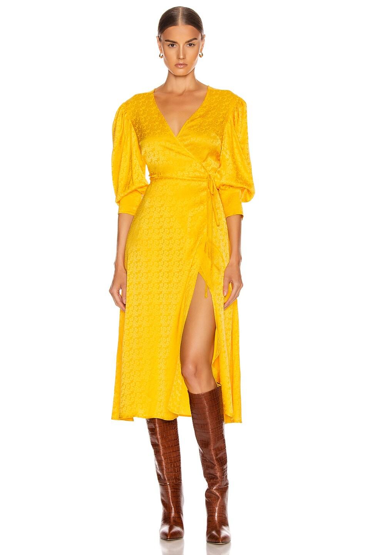 Image 2 of ANDAMANE Deva Midi Dress in Floral Yellow