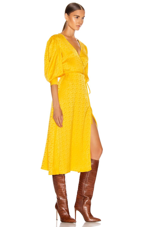 Image 3 of ANDAMANE Deva Midi Dress in Floral Yellow
