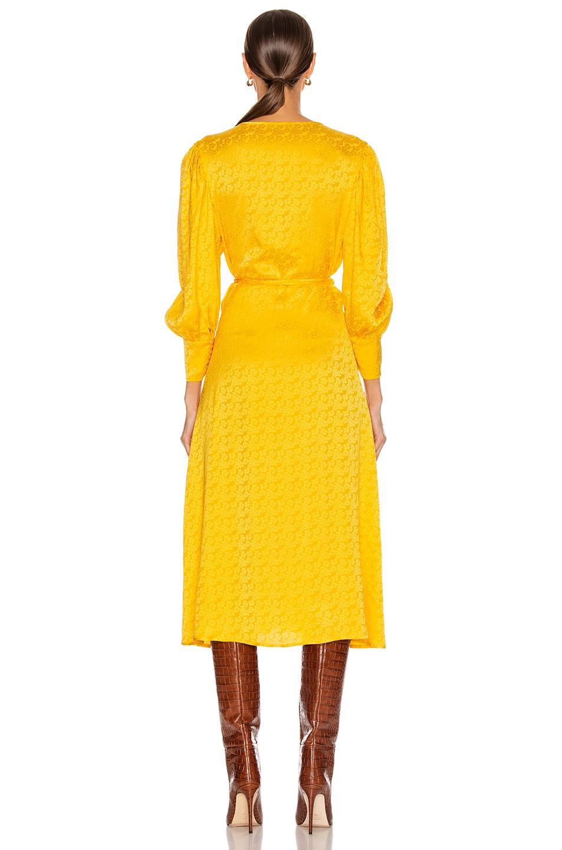 Image 4 of ANDAMANE Deva Midi Dress in Floral Yellow