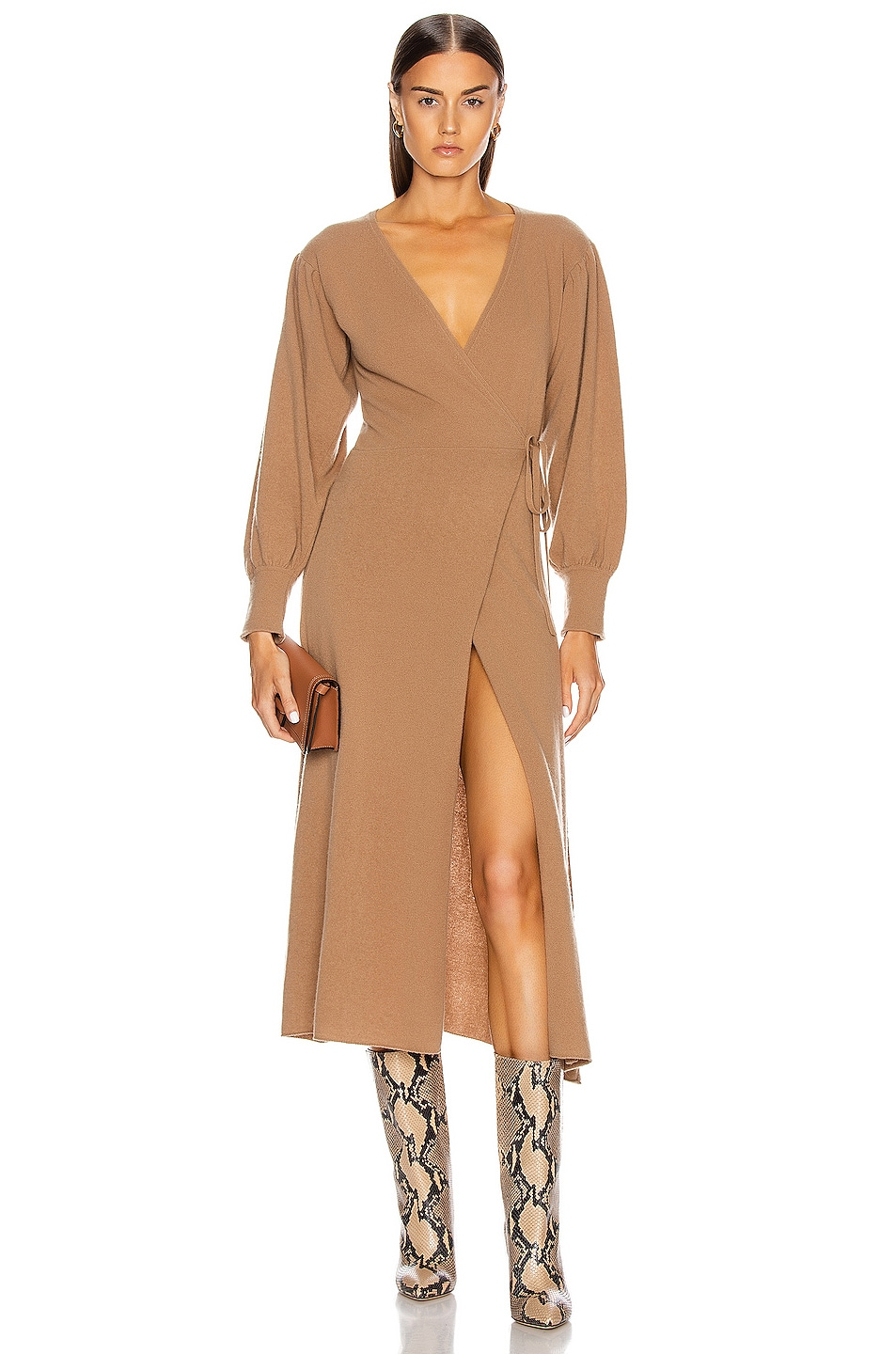 Image 1 of ANDAMANE Eleanor Cashmere Dress in Beige