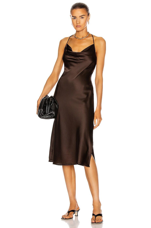 Image 1 of ANDAMANE Delfini Midi Dress in Brown