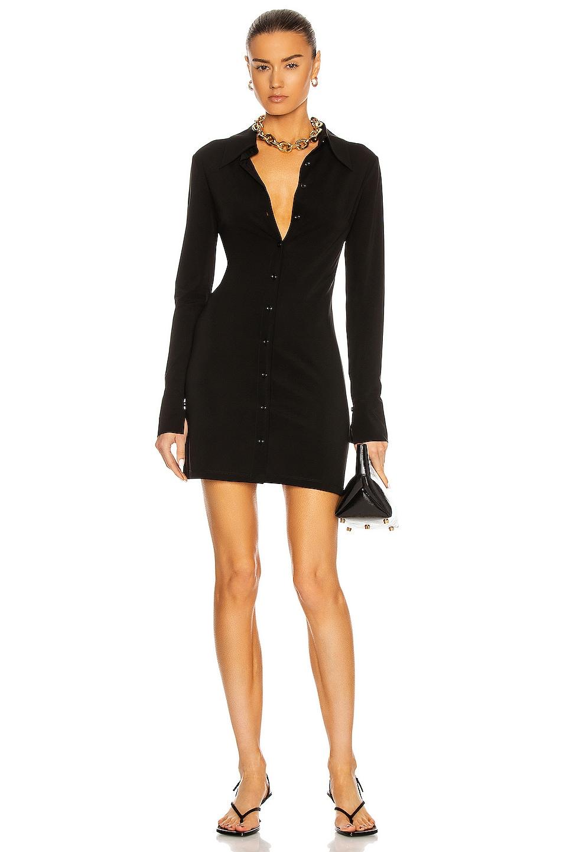 Image 1 of ANDAMANE Ginevra Mini Dress in Black