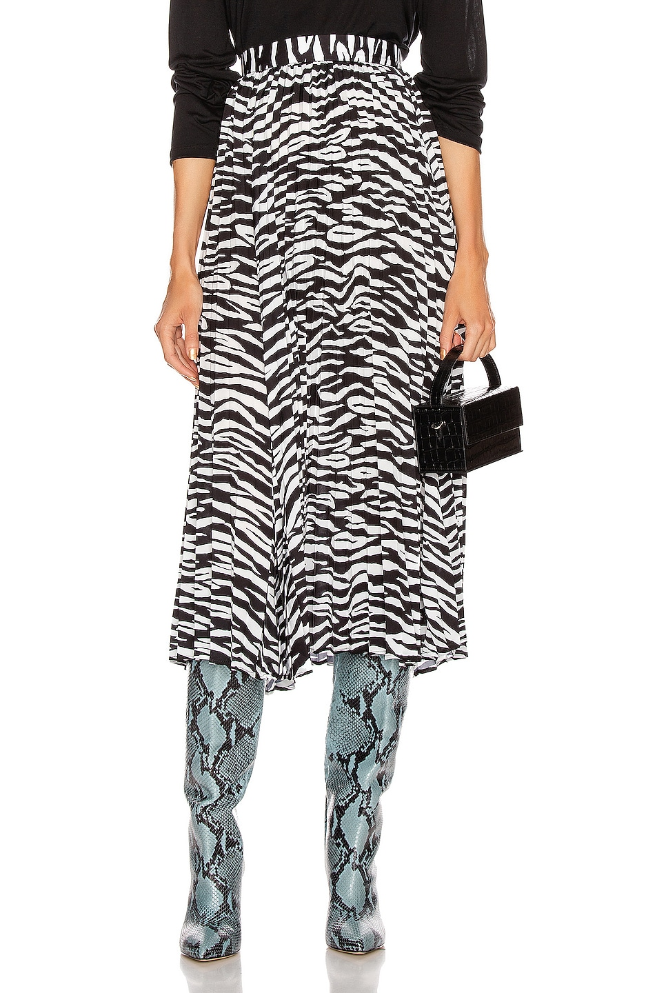 Image 1 of ANDAMANE Becky Midi Skirt in Zebra