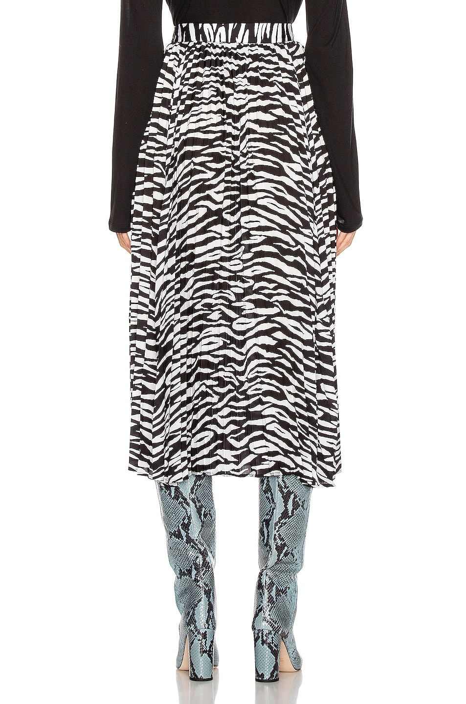Image 3 of ANDAMANE Becky Midi Skirt in Zebra