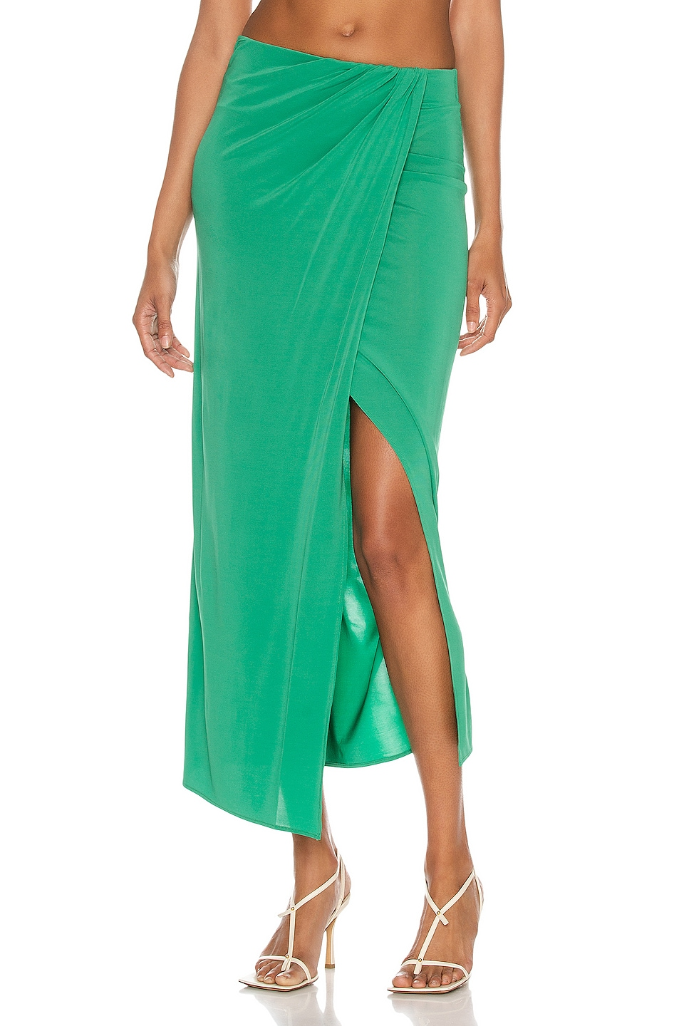 Image 1 of ANDAMANE Gabrielle Maxi Skirt in Emerald